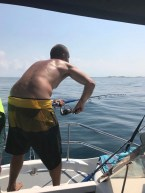 Soooo much fun! In the channel just north off Margaruque and the Snoek are wild. We caught so many we had to just stop!