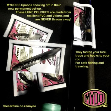 Mydo Lure Pouch: Can fasten lure on rod for safe travels and fishing