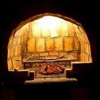 The braai eben has a light inside!
