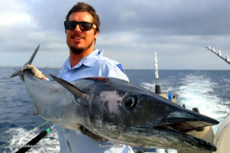Craig Sherrah over from OZ, fishing with FishBazaruto.com, and a few mean wahoo.