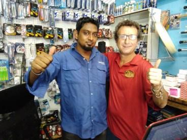 Partners in marketing...Desigan Govender of Danwood Fishing Tackle and Sean Lange of Mydo FIshing Lures