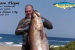 KZN spearing report weekly correspondent Jason Heyne made the headlines of his own news column with this huge 31kg daga salmon that Jason has been hunting his whole life