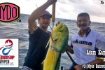 Adam Kamdar of Township Hyper and his delicious dorado taken on a #2 Mydo Baitswimmer