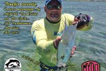JP Bartholomew fishing on the Mydo team in Mauritius catching loads of bluefin kingfish on his Mydo SS Spoon range.