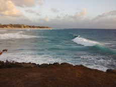 The scene. Tofinho Point. With a nice swell running. Kingfish love these conditions.