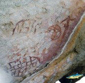 More rock art in the hills, by the ASan people, 3000 years ago.