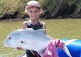 Mackenzie Nel and her trophy catch and release GT in the Umzimkulu