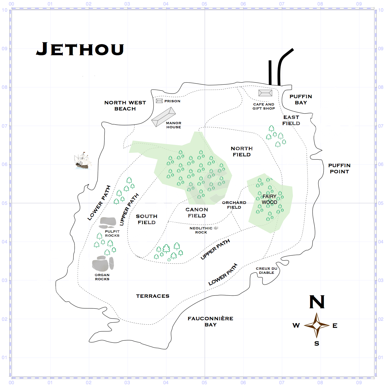Map of Jethou