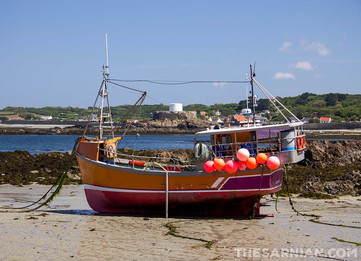 Fishing boat at Portelet Harbour