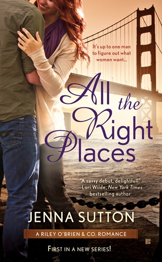 ALL THE RIGHT PLACES by Jenna Sutton: Review & Giveaway