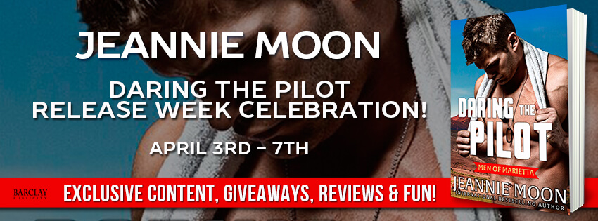 DARING THE PILOT by Jeannie Moon: Excerpt & Giveaway