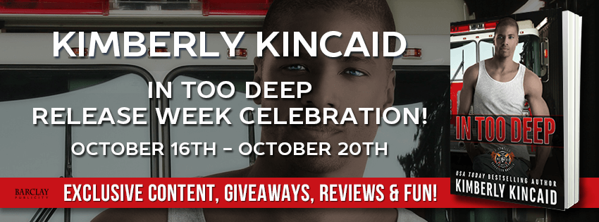 IN TOO DEEP by Kimberly Kincaid: Excerpt & Giveaway