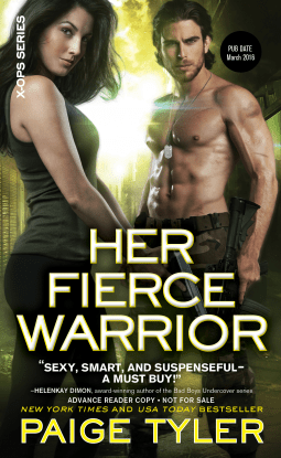 HER FIERCE WARRIOR by Paige Tyler: Spotlight ~ Review, Excerpt & Giveaway
