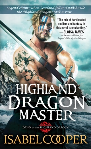 HIGHLAND DRAGON MASTER by Isabel Cooper: Excerpt & Giveaway
