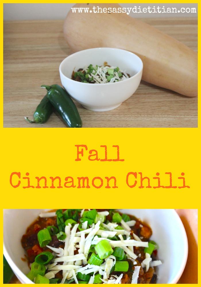 Fall Cinnamon Chili The Sassy Dietitian