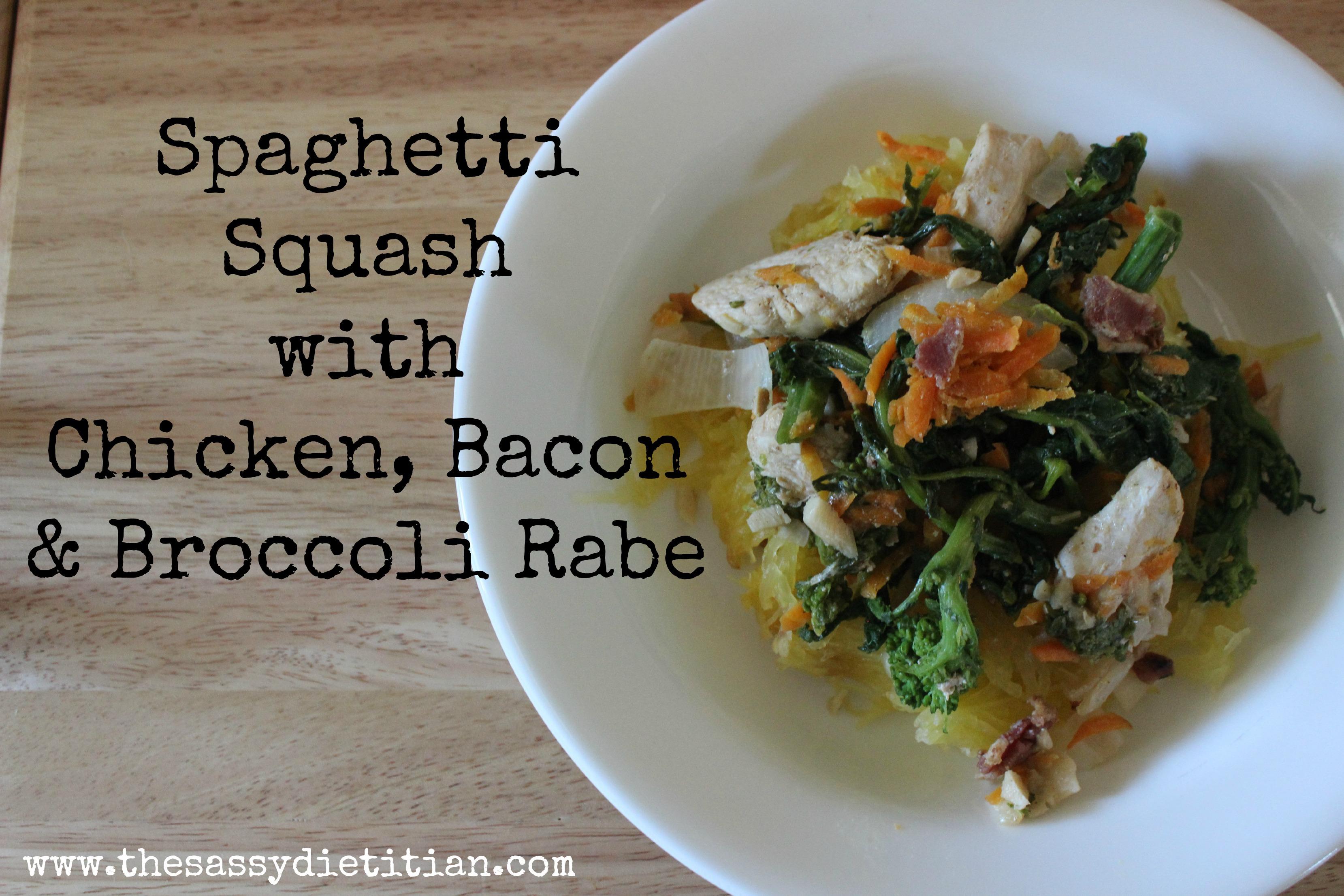 Spaghetti Squash Broccoli Rabe