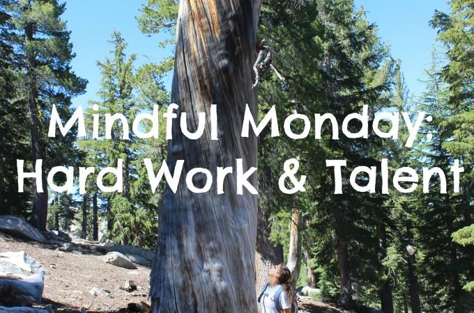 Mindful Monday: Hard Work & Talent