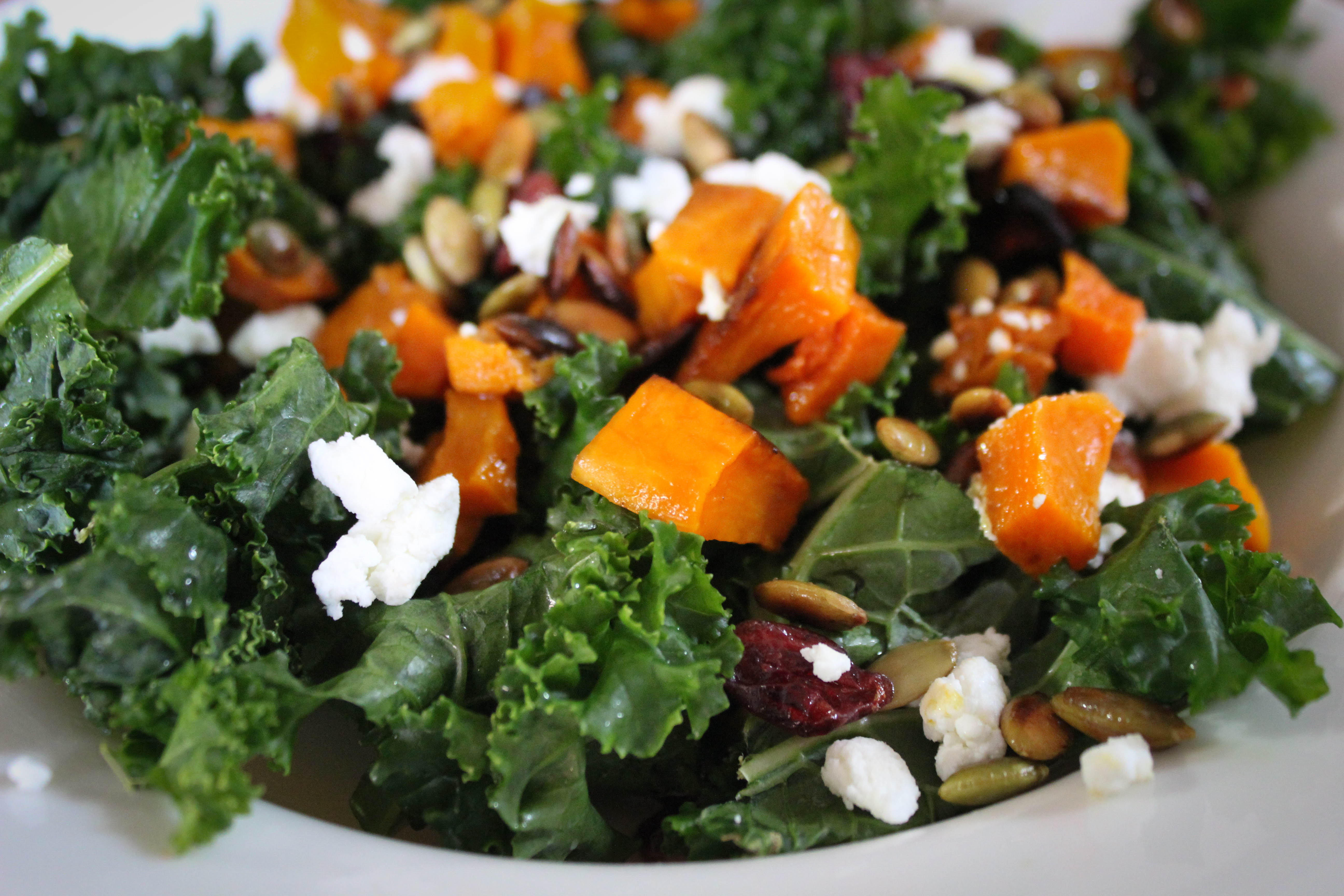Harvest Kale & Roasted Squash Salad