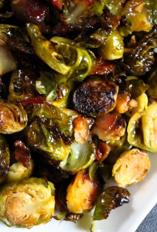 maple bacon sriracha brussels sprouts