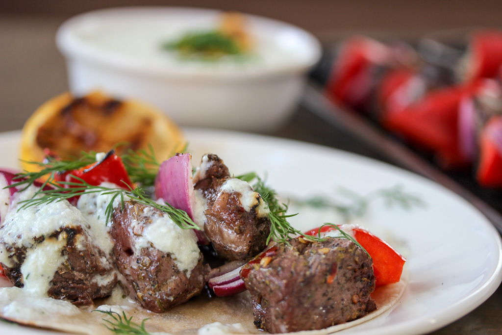 Greek Steak Kabobs (Souvlaki) with Tzatziki