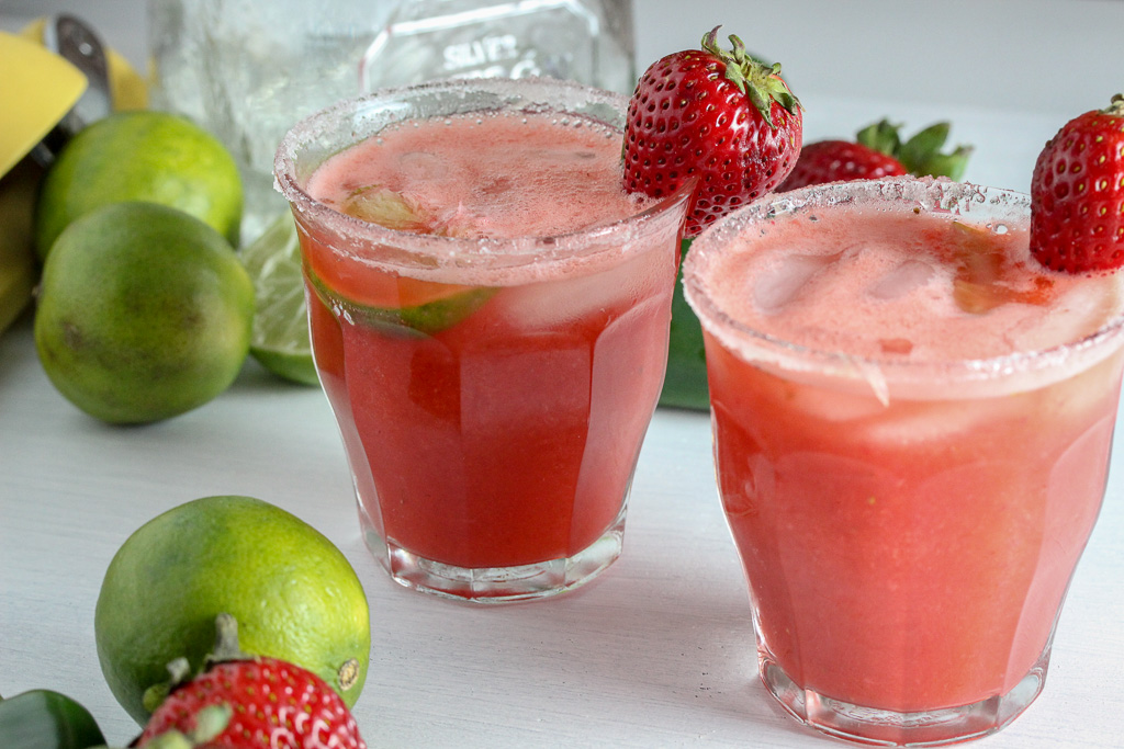 Strawberry Jalapeno Margaritas