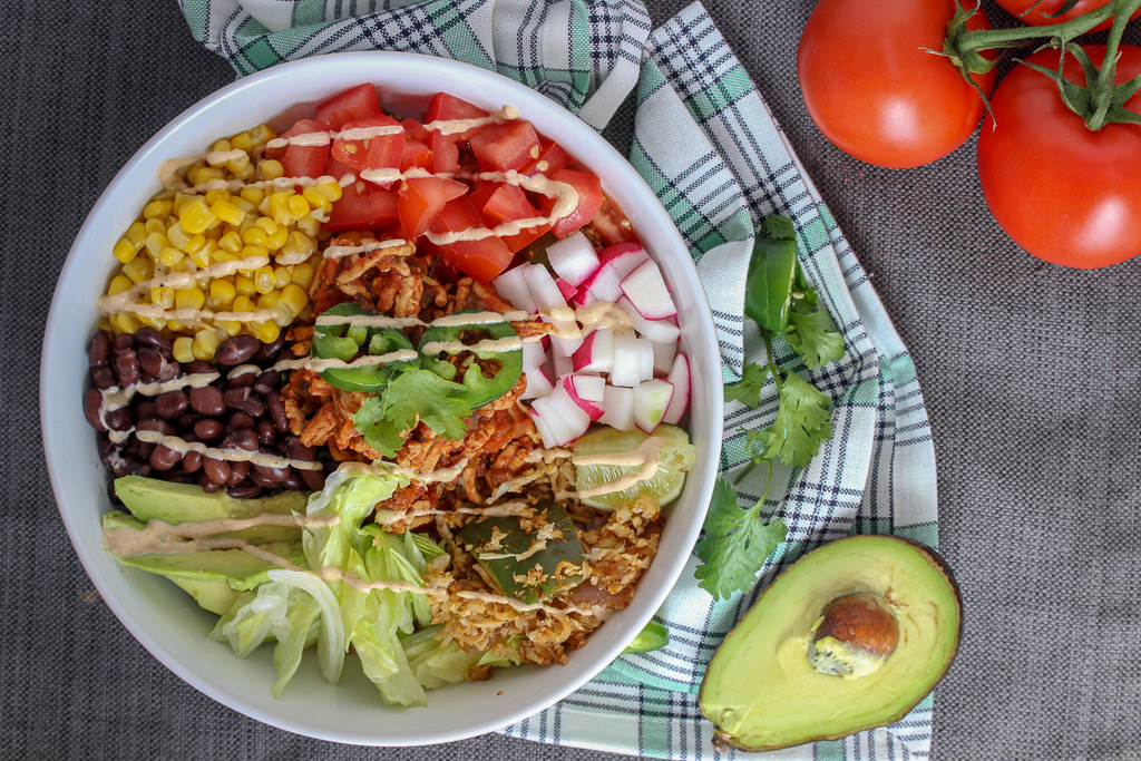 Easy Turkey Burrito Bowls with Cauliflower Rice