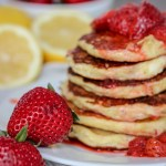 gluten free lemon ricotta pancakes
