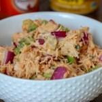 Buffalo Hummus Chicken Salad