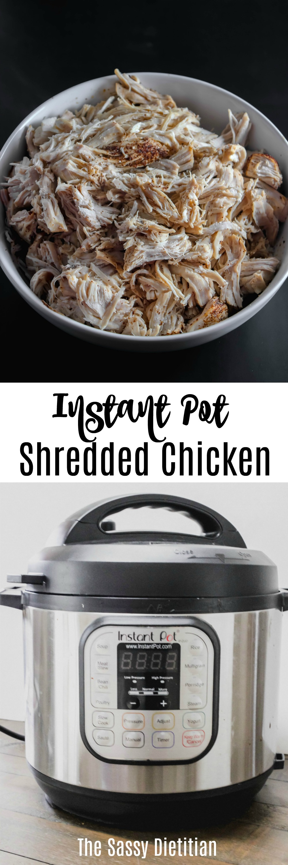 instant pot shredded chicken