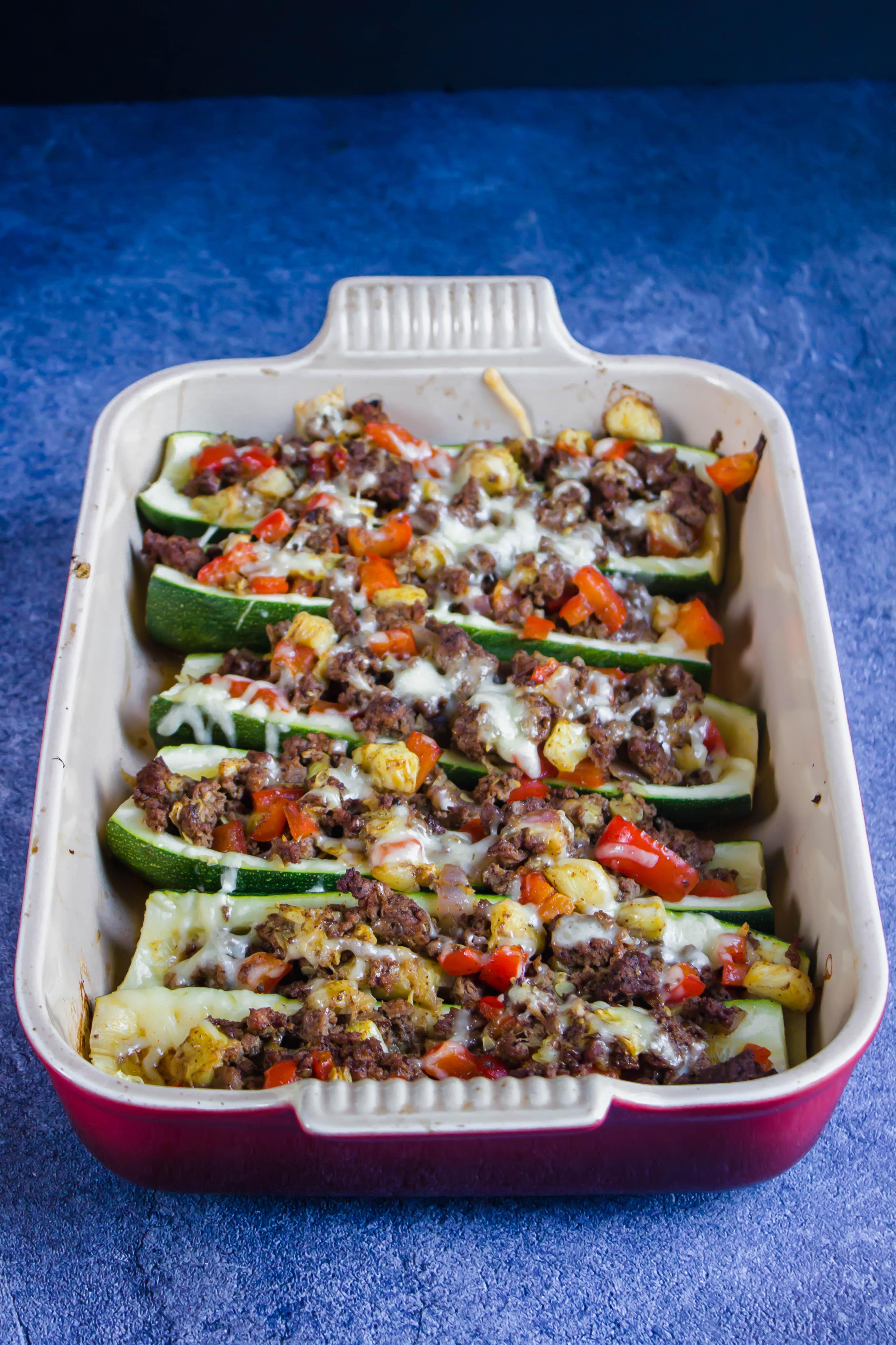 Taco Stuffed Zucchini Boats