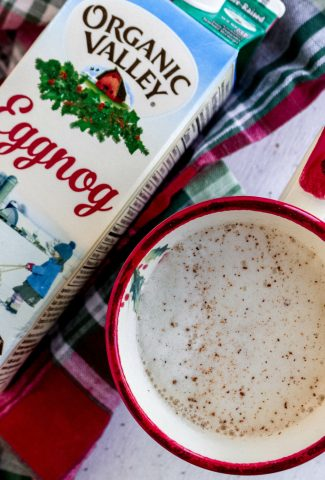 egg nog latte