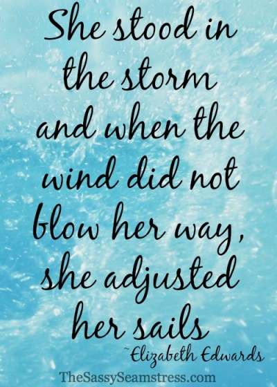 Learn To Adjust Your Sails // TheSassySeamstress.com