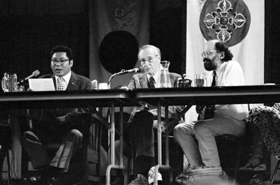 Trungpa, Burroughs, and Ginsberg.