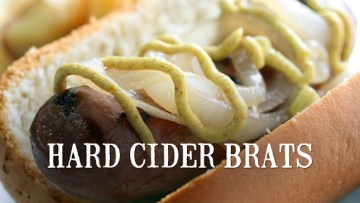 Hard Cider Brats Recipe