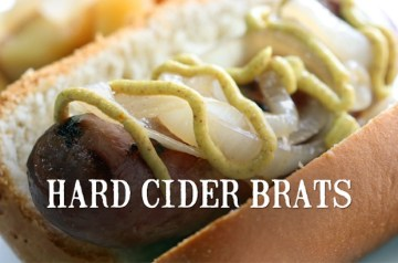 Hard Cider Brats Recipe