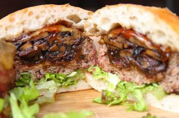 Beer Can Bacon Mushroom Swiss Burger Recipe