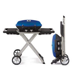 Napoleon TravelQ TQ285X Portable Gas Grill on Scissor Cart