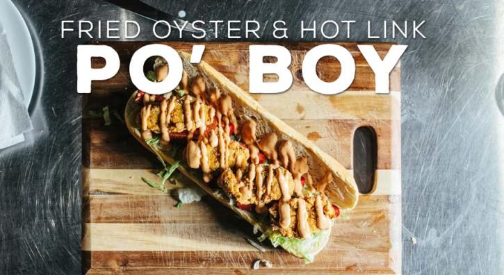 Fried Oyster & Hot Link Po' Boy