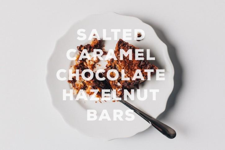 Salted Caramel Chocolate Hazelnut Bars