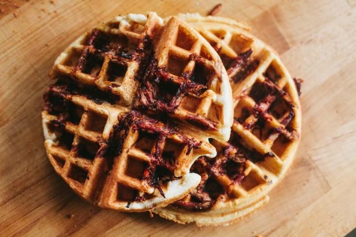 Pulled Pork Waffles
