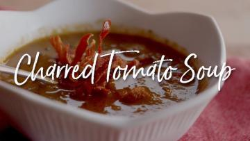 Charred Tomato Soup Recipe on the Kamado Joe Classic II