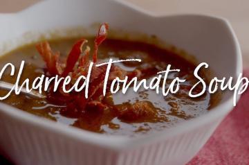 Charred Tomato Soup Recipe on the Kamado Joe Classic II