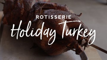 Rotisserie Holiday Turkey Recipe