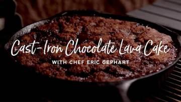 Cast Iron Chocolate Lava Cake