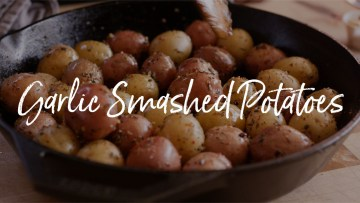 Garlic Smashed Potatoes Recipe