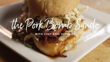 Pork Bomb Sandwich