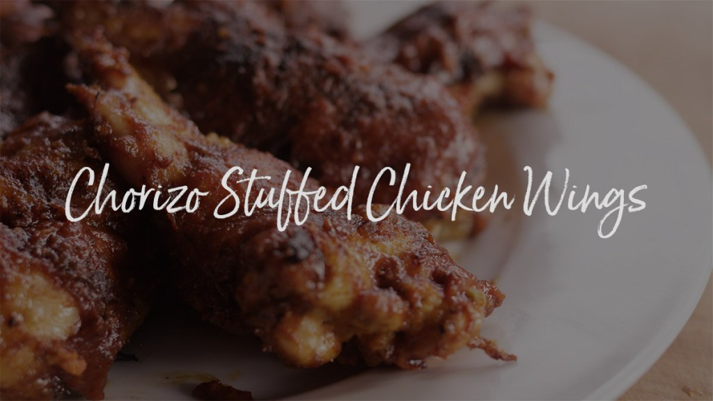 Chorizo Stuffed Chicken Wings Recipe