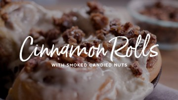 Cinnamon Rolls with Smoked Candied Nuts