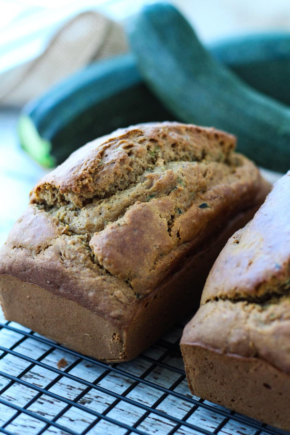 loaf of gluten free zucchini bread