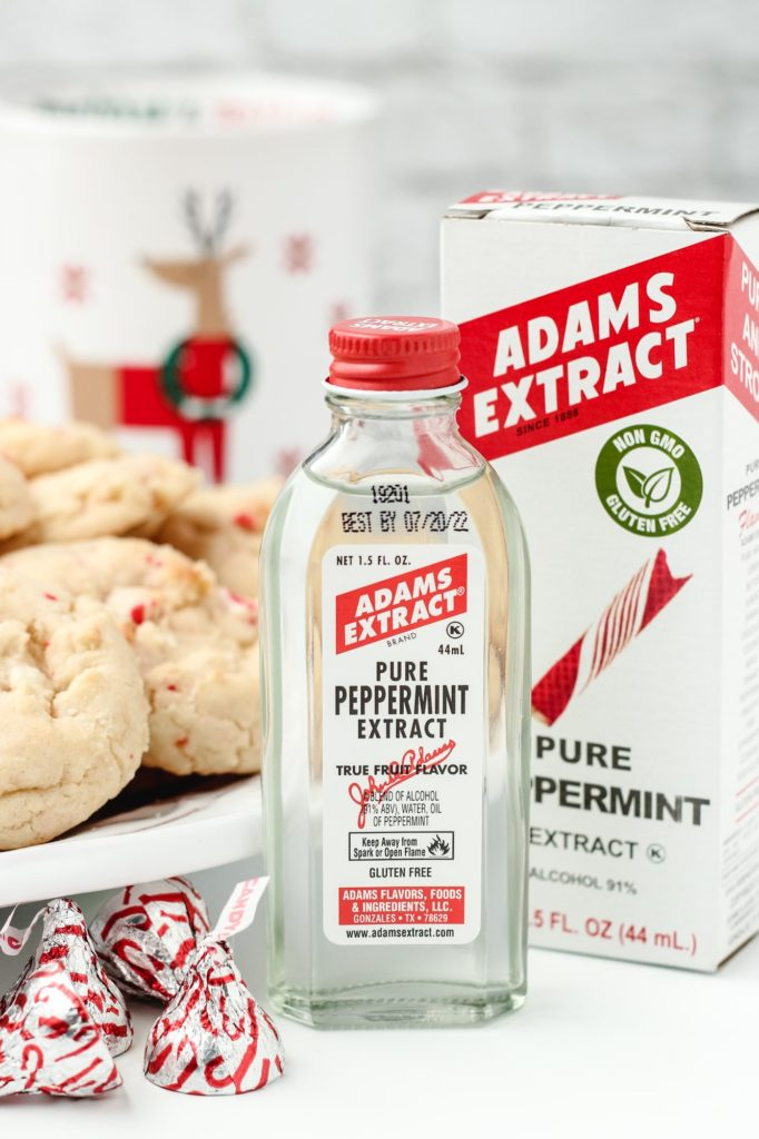 White Chocolate Peppermint Kiss Cookies